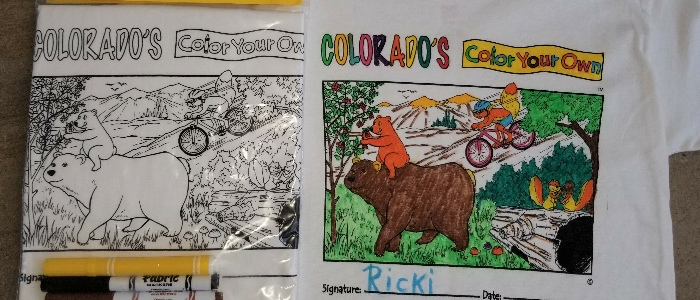 Color Your Own Hawaii Mountain Kids T-Shirts